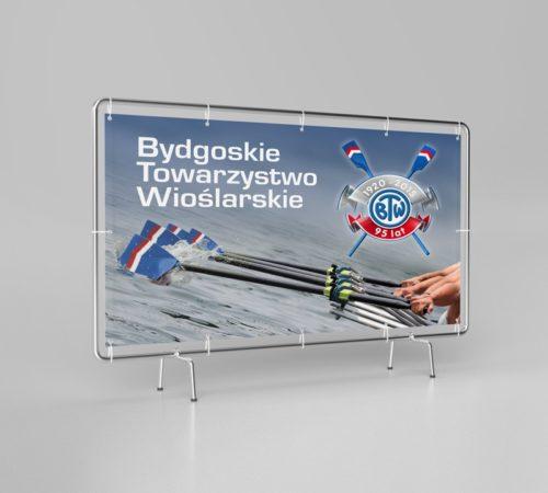 baner reklamowy Bydgoskie Towarzystwo Wioślarskie