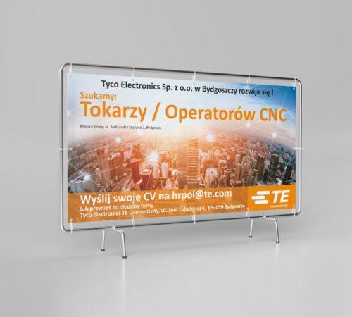 Baner reklamowy Tyco Electronics w Bydgoszczy
