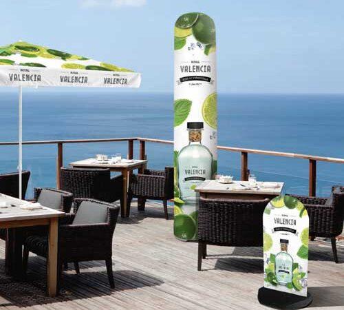 wizualizacja kolumna reklamowa Bora