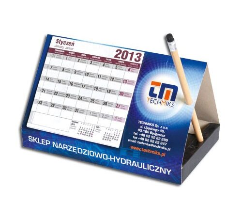 kalendarz biurkowy stojący