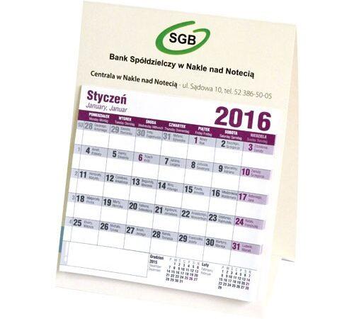 kalendarz domek na biurko stojący