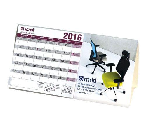 kalendarz biurkowy 2020 stojący poziomy