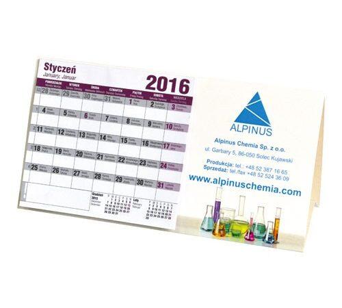 kalendarz na biurko stojący poziomy