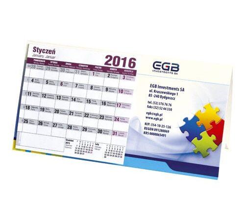 kalendarz biurkowy stojący poziomy