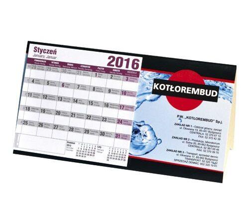 kalendarz domek biurkowy stojący