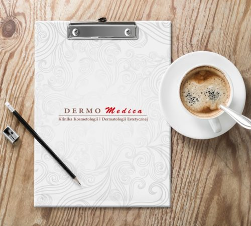 clipboard podkładka z klipsem Dermo Medica