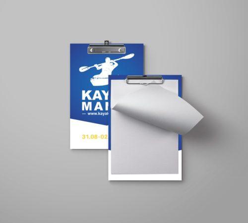 clipboard reklamowy z nadrukiem KAYAKMANIA