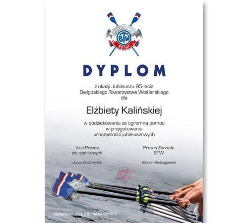 dyplom z okazji jubileuszu drukarnia DobryDruk.pl