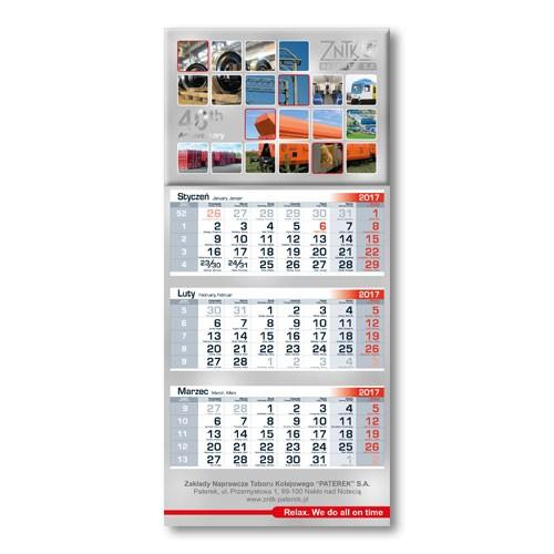 Kalendarz trójdzielny Ekonomik 30 cm