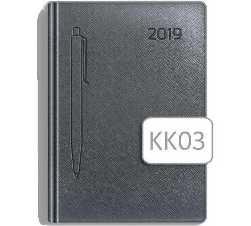 kalendarz książkowy KK03 szary A5