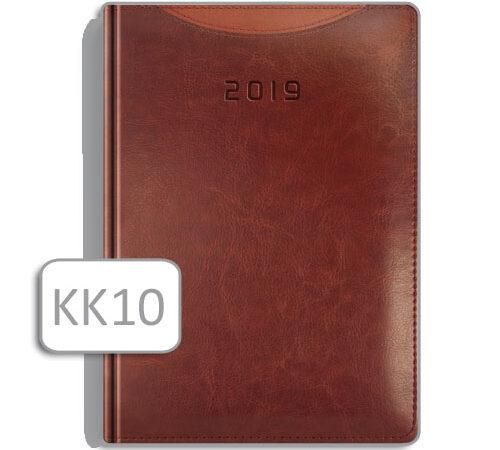 kalendarz książkowy KK10 ruda skóra