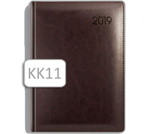 kalendarz książkowy ciemny brąz KK11