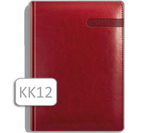 kalendarz notesowy KK12 czerwony