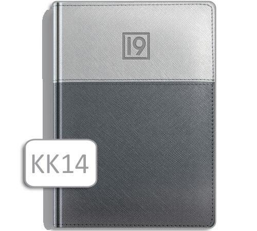 kalendarz książkowy terminarz KK14 szara okładka