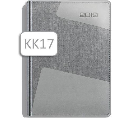 kalendarz książkowy KK17 szary