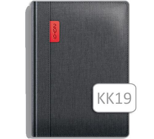 elegancki kalendarz książkowy KK19 antracyt