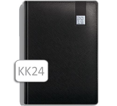 kalendarz książkowy KK24 czarny