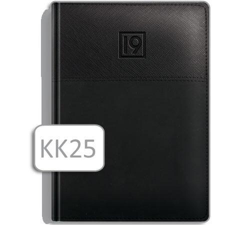 kalendarz książkowy czarny terminarz A5 KK25