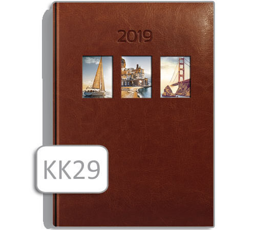 kalendarz notesowy KK29 brąz