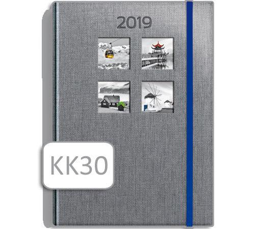 terminarz szary notesowy KK30 kalendarz książkowy