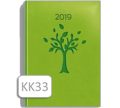 kalendarz książkowy zielony drzewo KK33