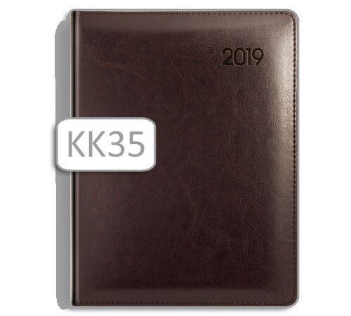 kalendarz książkowy w brązowej oprawie K35