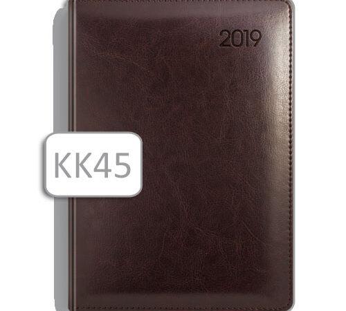 terminarz w skórzanej oprawie KK45 brązowy kalendarz książkowy