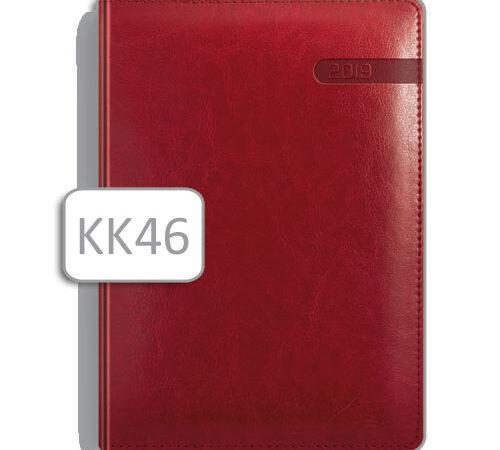 kalendarz książkowy czerwony terminarz KK46