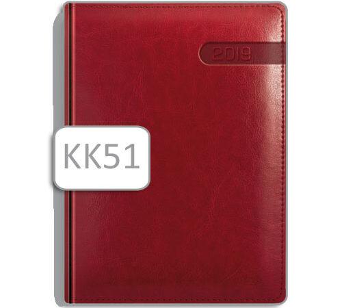 kalendarz książkowy KK51 czerwona oprawa