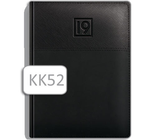 czarny kalendarz książkowy KK52 A5