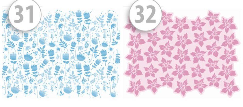 maseczki ochronne z nadrukiem motyw roślinny niebieski/różowy