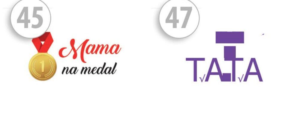 Maseczki ochronne z nadrukiem Mama na medal/TATA