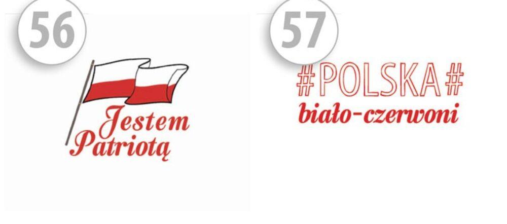 maseczki ochronne na twarz z nadrukiem jestem patriotą/POLSKA biało-czerwoni