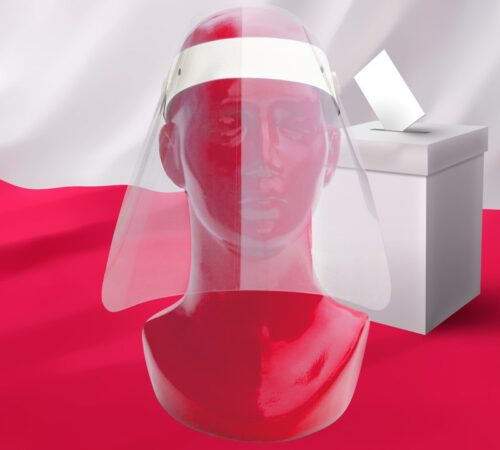 ochrona twarzy dla członków komisji wyborczych oraz wyborców