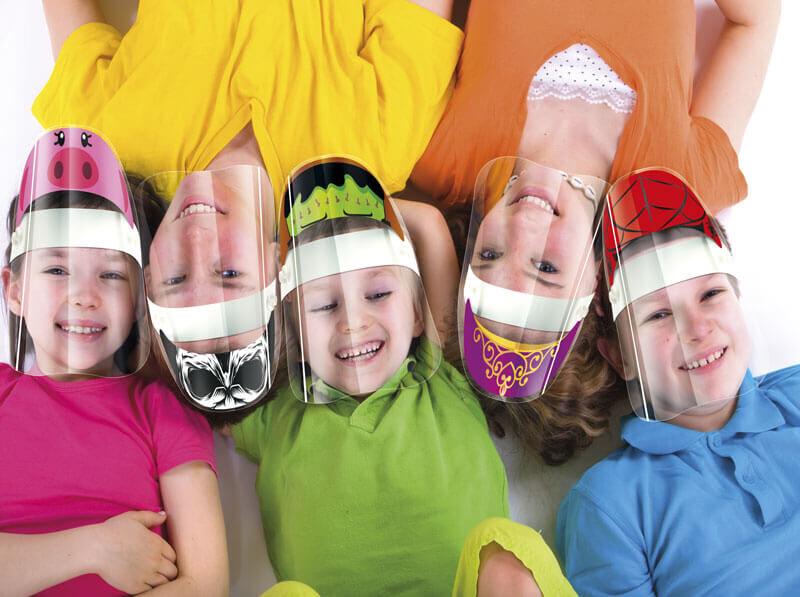przyłbice ochronne dla dzieci