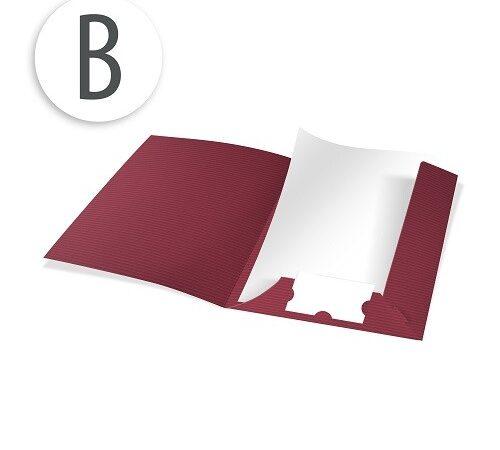 teczki barwione w masie B bordo