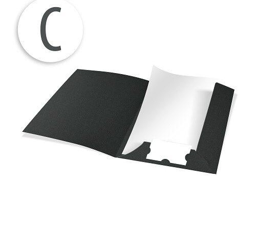 teczki z kartonu barwionego w masie C czarny