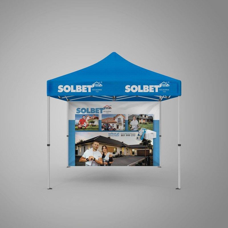 namiot reklamowy z nadrukiem