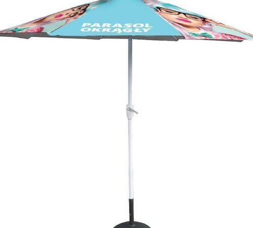 parasol reklamowy z nadrukiem okrągły