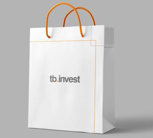 torba reklamowa TB INVEST druk offsetowy