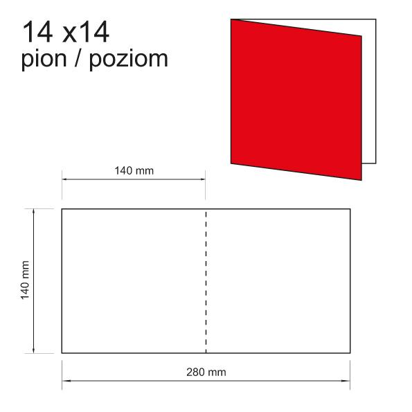 druk zaproszeń 14 x 14 pion / poziom