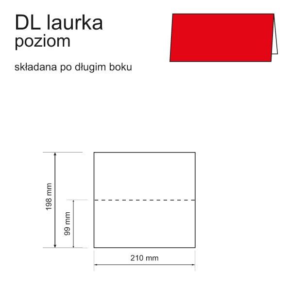 druk zaproszeń DL laurka składana po długim boku