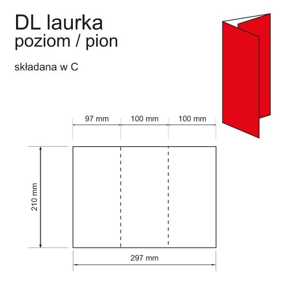 druk zaproszeń DL laurka poziom / pion składana w C