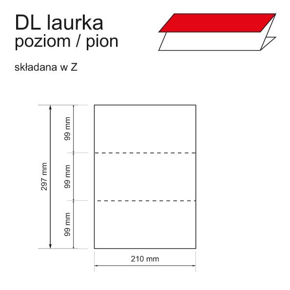 druk zaproszeń DL laurka poziom / pion składana w Z