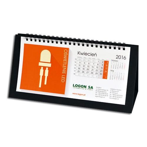Kalendarz stojący ze spiralą metalową