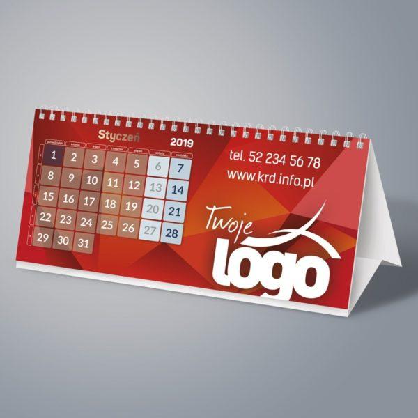 Kalendarz biurkowy wieloplanszowy na spirali
