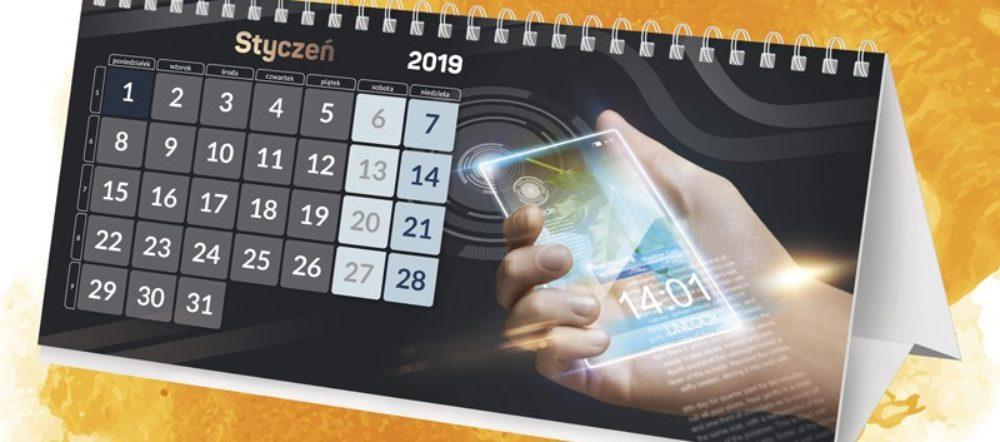 Kalendarz biurkowy wieloplanszowy na spirali Smartfony