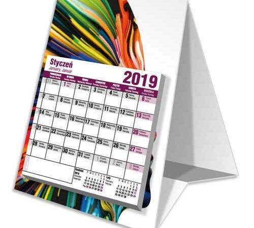 kalendarz biurkowy stojący typu domek
