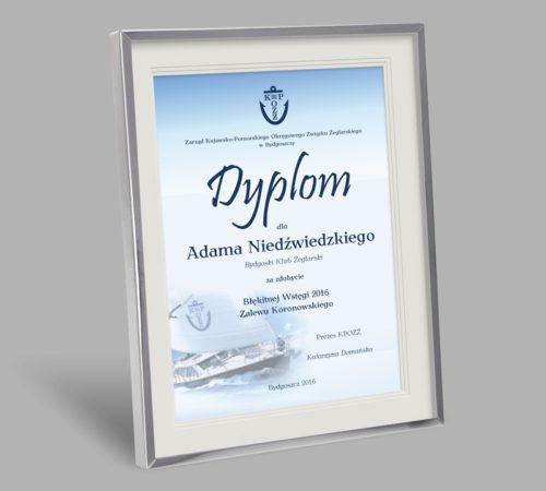 dyplom klubu żeglarskiego