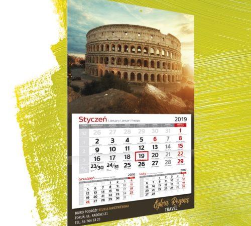 Kalendarz jednodzielny klasyczny A3 Coloseum